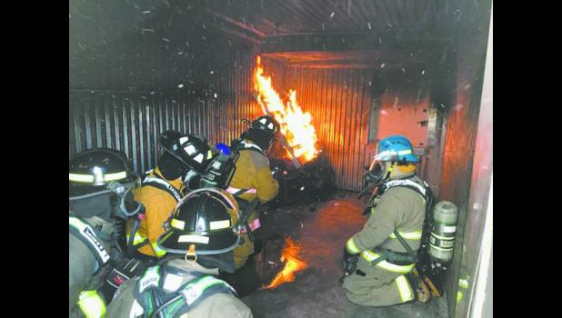 Live fire training at Pennington County, SD